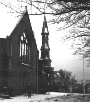All Saints Parish Southport Church Exterior after the 1977 Fire